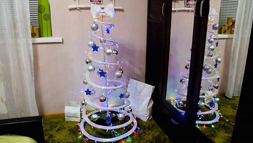 圣诞节手工系列,看看如何在家制作一棵圣诞树!