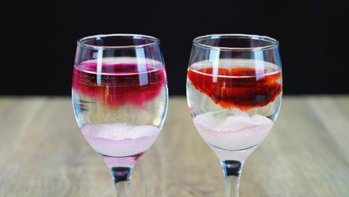 魔力科学小实验 | 同样是糖水,两种颜色为何泾渭分明?
