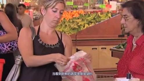 国外爆笑恶搞,超市的购物袋总是打不开,网友:怀疑人生!