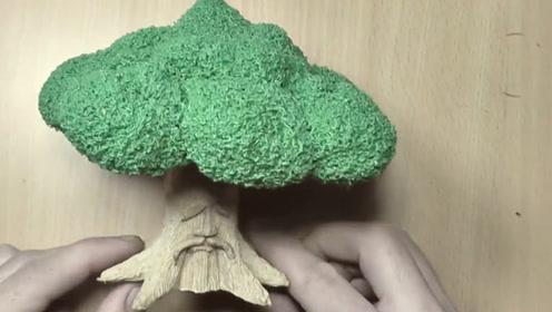 3D笔究竟有多神奇?牛人完美还原塞尔达传说的德库树,过程看得人眼花缭乱