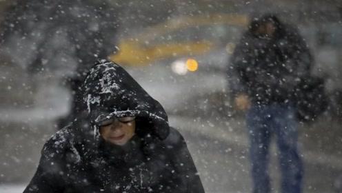 纽约州遭遇暴风雪导致近400起车祸 州长宣布进入紧急状态
