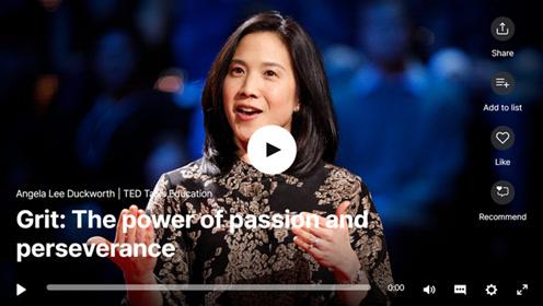 TED演讲:毅力是成功的钥匙!