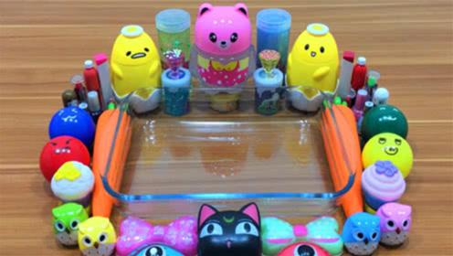 胡萝卜彩泥,小猫饰品,小熊饰品,DIY史莱姆教程