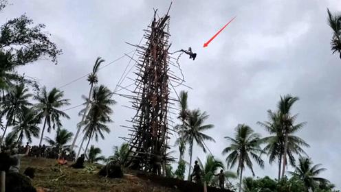"""世界上最""""危险""""成年礼,从30米高台上跳下,没死的人才算成年!"""