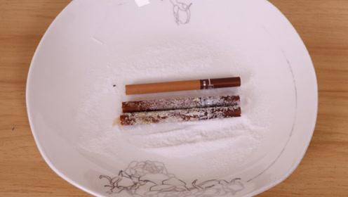 香烟上裹一层食盐,没想到这么厉害,很多家庭都需要,后悔才知道