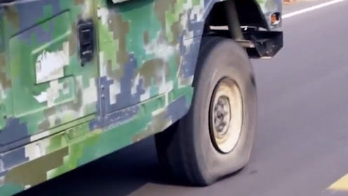 """中国军用防爆轮胎有多顶?大狙炸药弄不""""坏"""",拖伤""""狂飙""""71公里"""