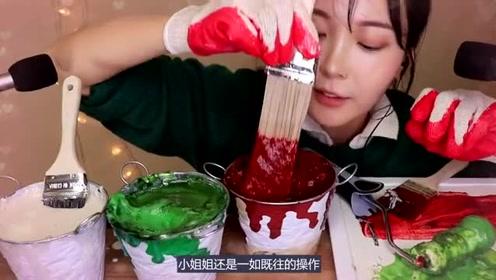 现在的吃播真不容易,以假乱真的水果酱和意大利面,你敢吃吗