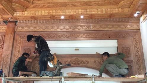 泰国木工装修房子,这活做得真漂亮,网友:月薪10000不算多