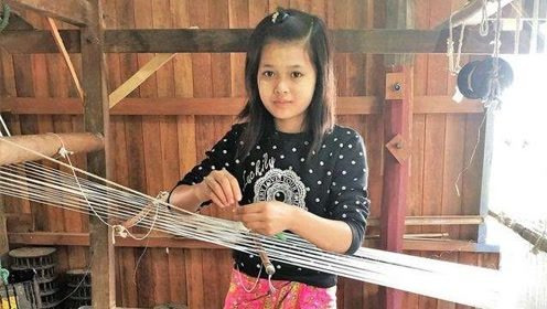 越南女性用莲藕丝编织围巾,一条卖到900块,你要买一条吗