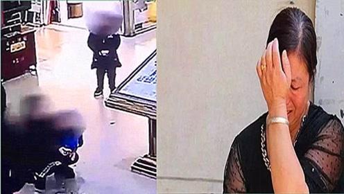 母亲带着女儿逛商场,转眼孩子就出事了,监控记录惊险3秒!