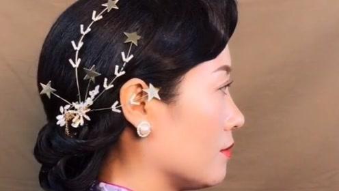 旗袍妈妈发型教程,超级优雅有气质