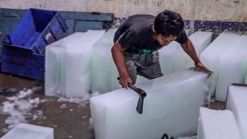 印度冰块诞生记,奇葩工厂用恒河水制造,网友:在印度完全不敢吃东西了!