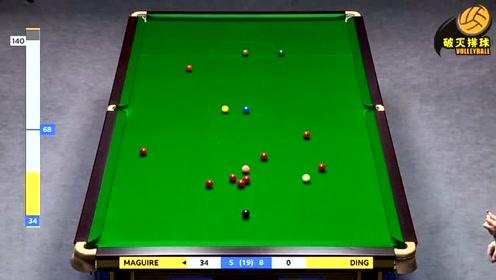 回放:斯诺克英锦赛决赛丁俊晖vs马奎尔第14局 马奎尔单杆124分获胜