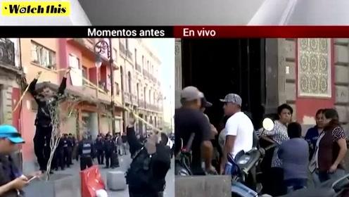 墨西哥总统府附近突发枪击案致4人死亡 起因竟是大小便问题?