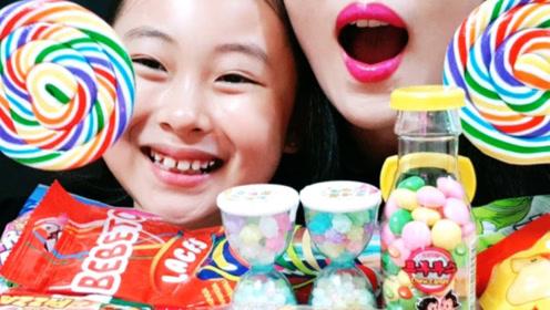 吃货母女享用糖果,充满创意目不暇接
