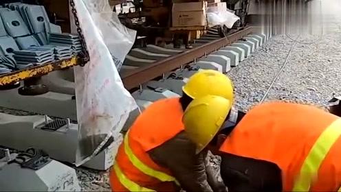 中国铁路施工实拍,满满的科技感,大国重器,满满的骄傲!