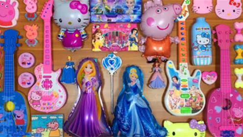 DIY史莱姆教程,吉他小饰品、公主水晶泥、凯蒂猫彩泥、水彩蜡笔