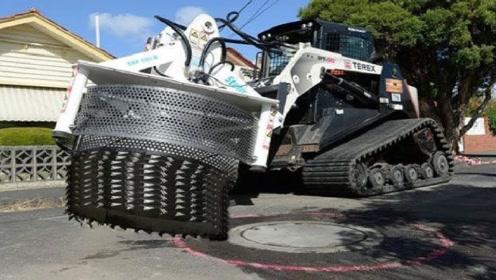 强大的现代道路施工机械,国外的技术太先进了!