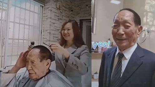 """俏皮!袁隆平路边小店理发16年,剪完会说""""我又年轻了"""""""