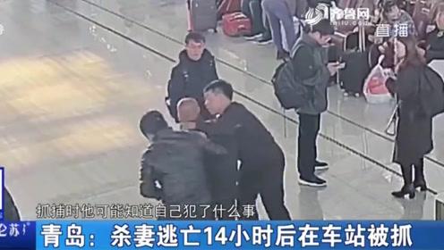 杀妻逃亡14小时 男子要坐火车出游 眼神出卖了他