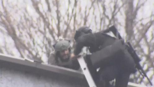 美国新泽西州发生枪击案已致6死 实拍:狙击手到场处置 直升机盘旋空中