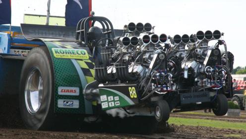 """10000马力拖拉机有多猛?拖拉机安装火箭发动机,一脚油门""""飞了"""""""