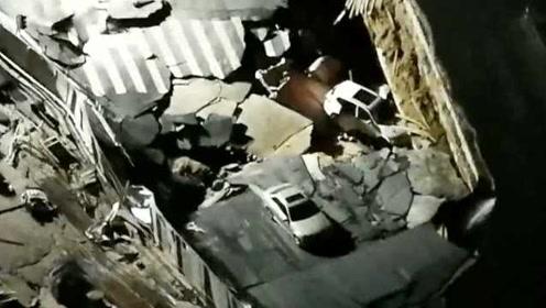 厦门吕厝路面塌陷目击者:还以为是地震,担心没法去上班