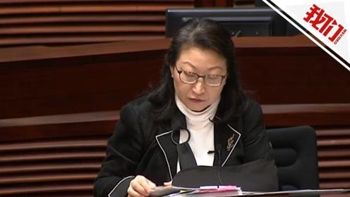 香港律政司司长:按证据决定是否检控被捕人士 无任何政治考虑