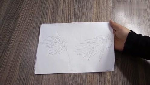 你能看出这是用纸板做的花瓶吗?不看过程的话,还以为是瓷器呢!