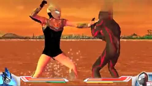 超强黑白罗布奥特曼对战黑暗扎基奥特曼!