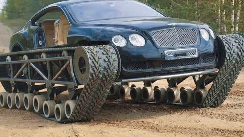 小哥把300万豪车,改装成一个巨无霸,一脚油门霸气外漏