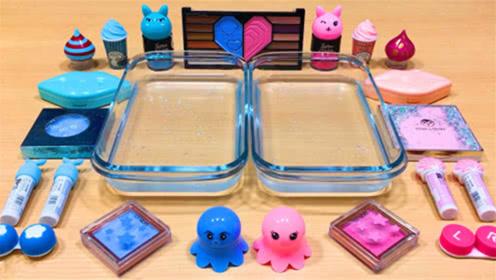 DIY史莱姆教程,双盆水晶泥+多种眼影+果冻泥,超棒