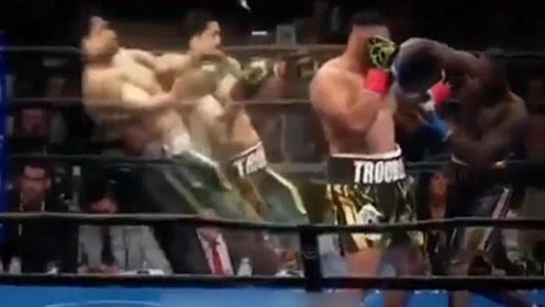 当今第一拳王维尔德疯狂一击,直接将对手打的灵魂出窍!