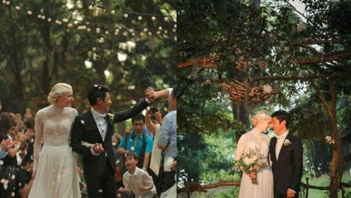 撒贝宁结婚三年升级当爸,外籍老婆朋友圈曝光,疑似混血龙凤胎