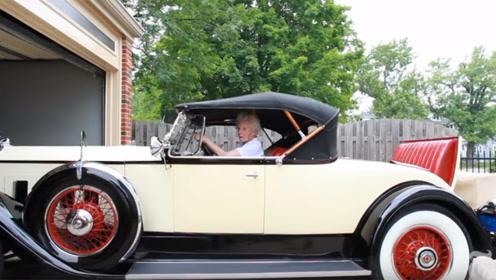 101岁老人驾驶着82年车龄的古董车,价值上千万,还经常超速!