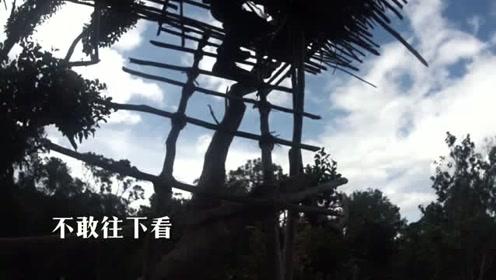 科罗威人搭出30米高树屋,不用任何绳子却能十年不倒