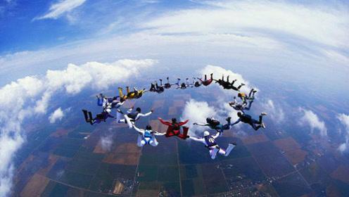 外国小哥在中国各地花样跳伞 超惊险刺激出人意料