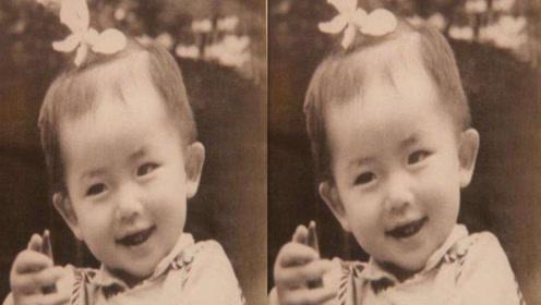 谢娜晒童年照圆圆眼睛萌态足,网友:宝宝像小时候的你吗?