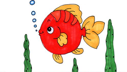 3分钟教你画一条超可爱的胖头娃娃鱼