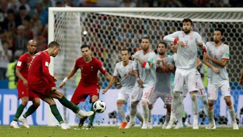 回顾世界杯7粒直接任意球破门 C罗克罗斯致命弧线双双救主