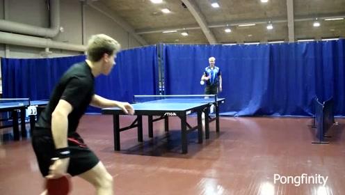 神乎其技的乒乓球,对手直接被打懵了!网友:来中国试试?