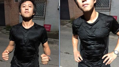 邓超高调秀身材,隔着衣服都能被他的腹肌胸肌给撩到