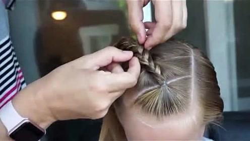 手残党妈妈也能轻松学会的简洁款儿童编发,让孩子的长发与众不同