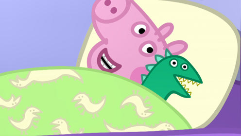 小猪佩奇的弟弟乔治和小象玩恐龙玩具,用简笔画画出他们!玩具故事