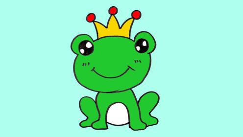 动物简笔画的视频教程,青蛙王子的肖像,公主呢?