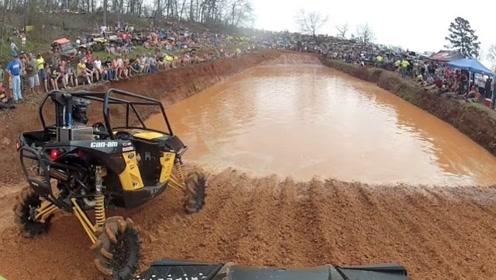 牛人驾驶自制车辆勇敢穿越沼泥 太厉害
