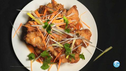 东北大姐改良锅包肉,外酥里嫩酸甜可口,客人吃得舍不得走