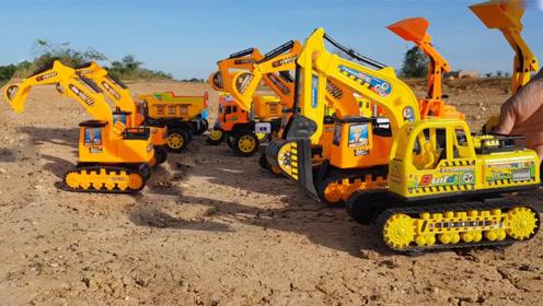 挖掘机玩具乐高积木搭建停车场,儿童趣味视频