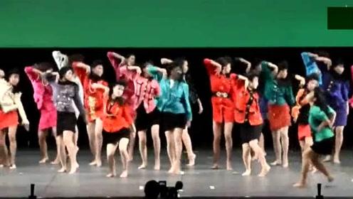 日本高中舞蹈大赛的一段表演,太魔性