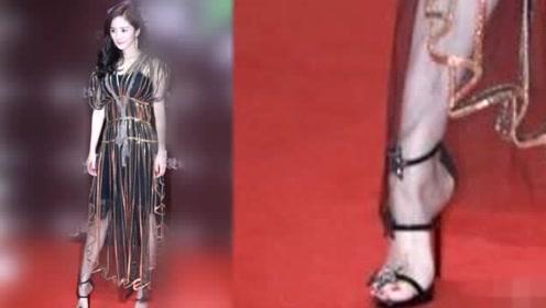 女星比美矮就输了:秦岚25cm高跟鞋算什么?杨幂杨颖穿过更厉害的